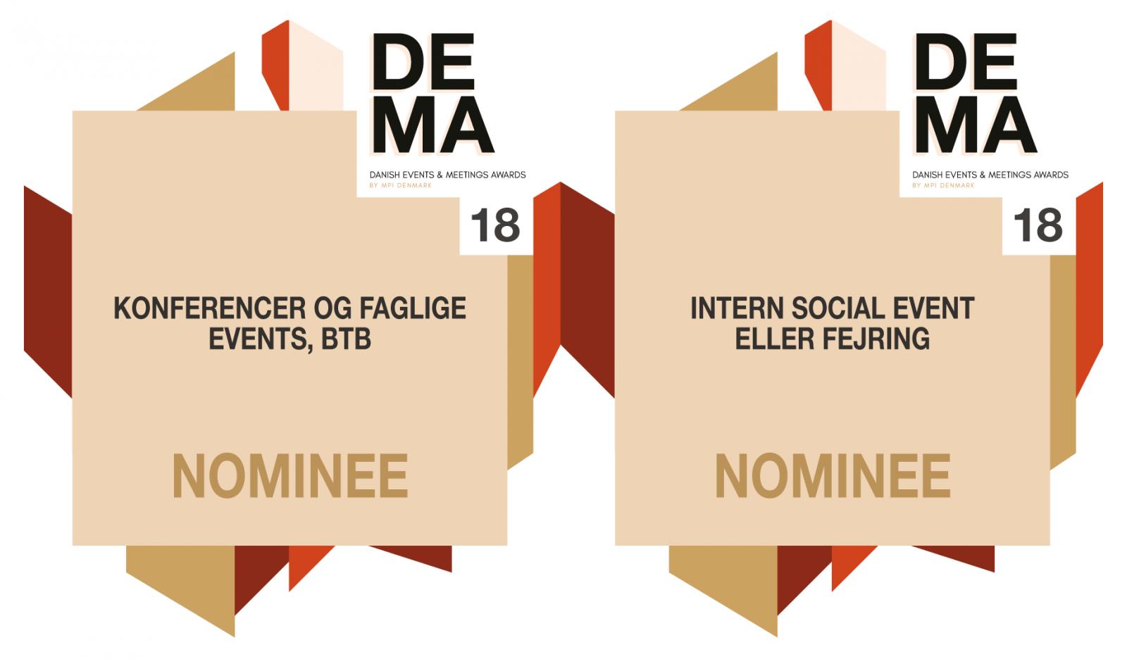 Vi er nomineret til DEMA18!